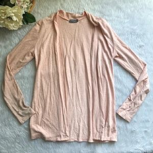 Market and Spruce Pink Open Cardigan